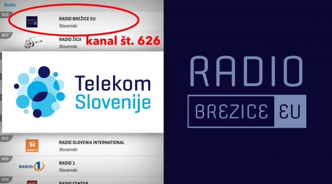 Radio Brežice Eu na programski shemi Telekom Slovenije (NEO)
