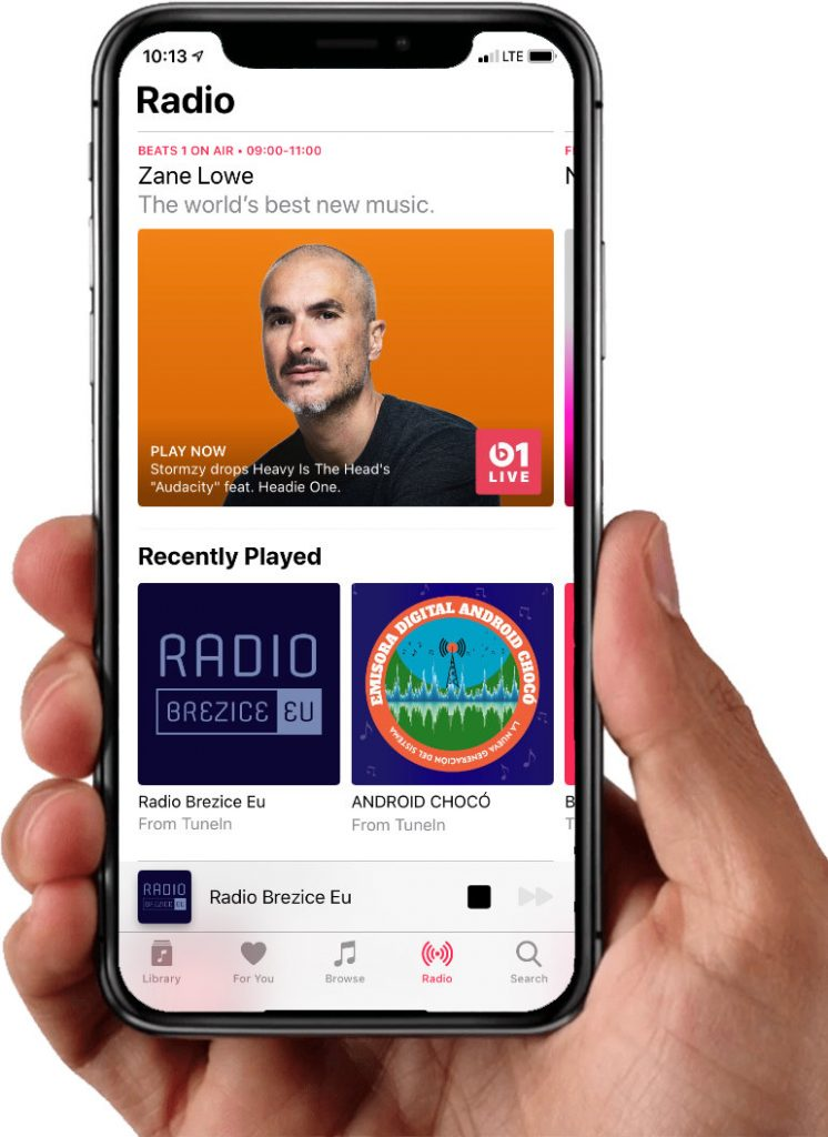 Radio Brežice Eu na Apple Music (iPhone, iPad, MacOS)
